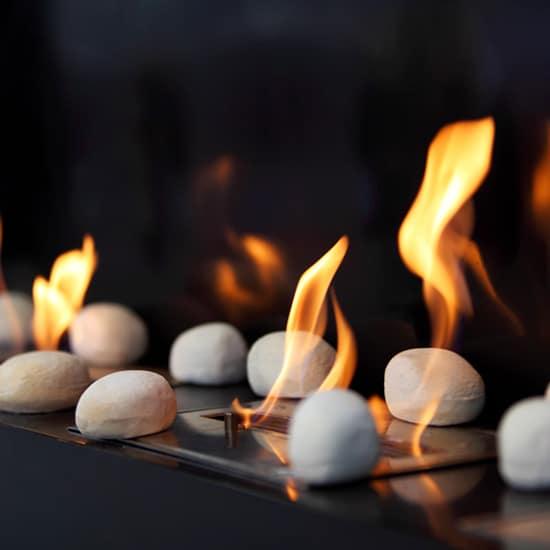 Galets décoratifs cheminée ethanol